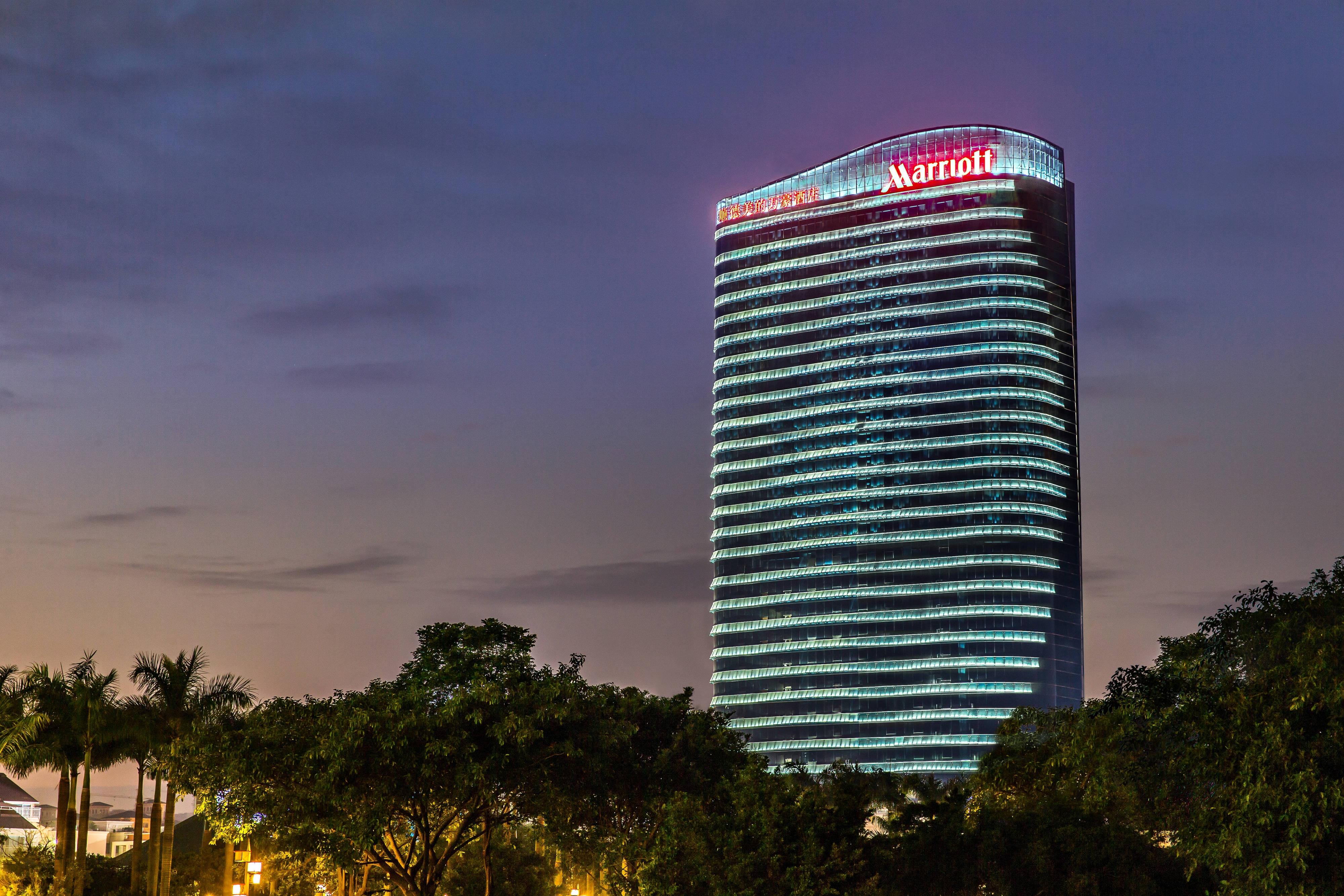 Shunde Marriott Hotel night exterior