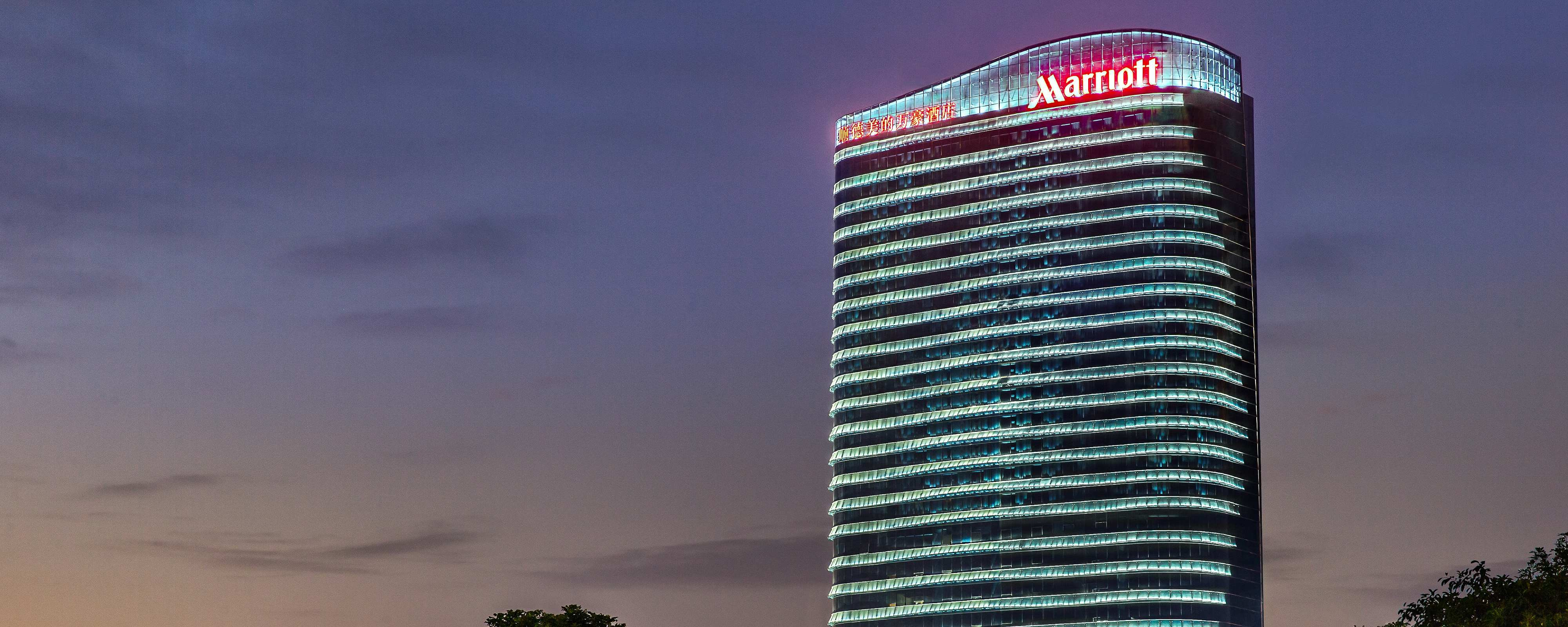 Shunde Marriott Hotel night exterior