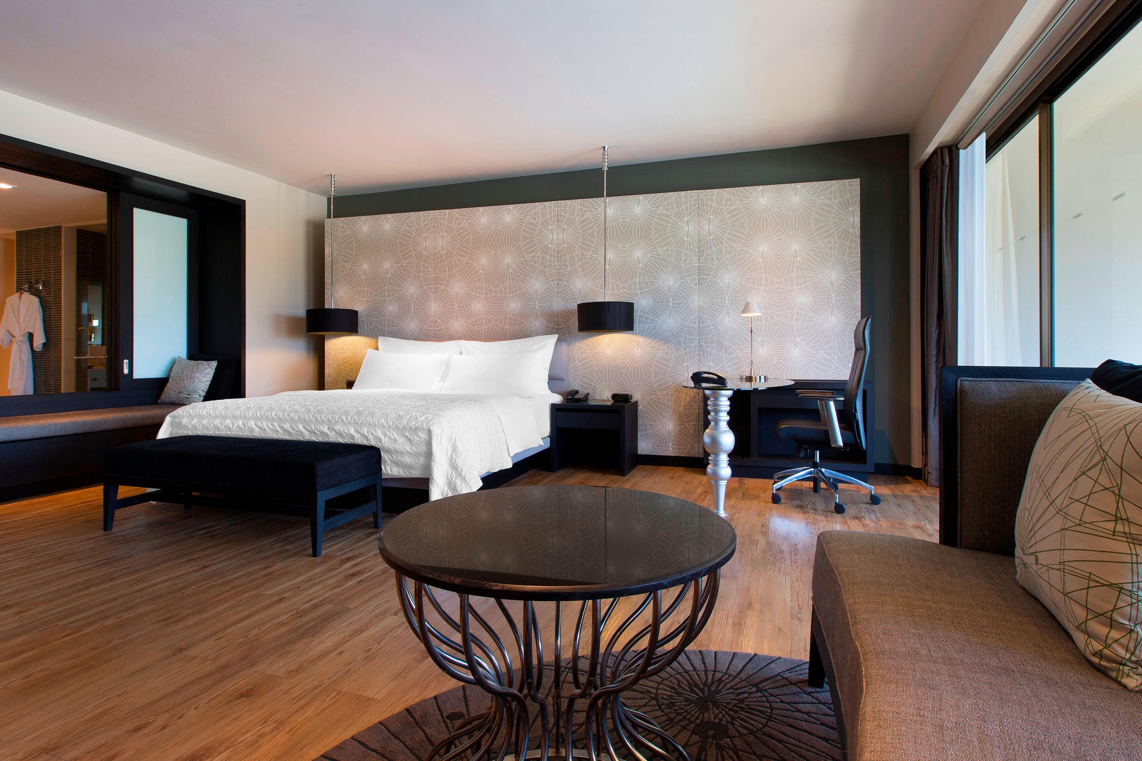 Chambre Grande de luxe avec vue sur le jardin/fleuve – Espace nuit