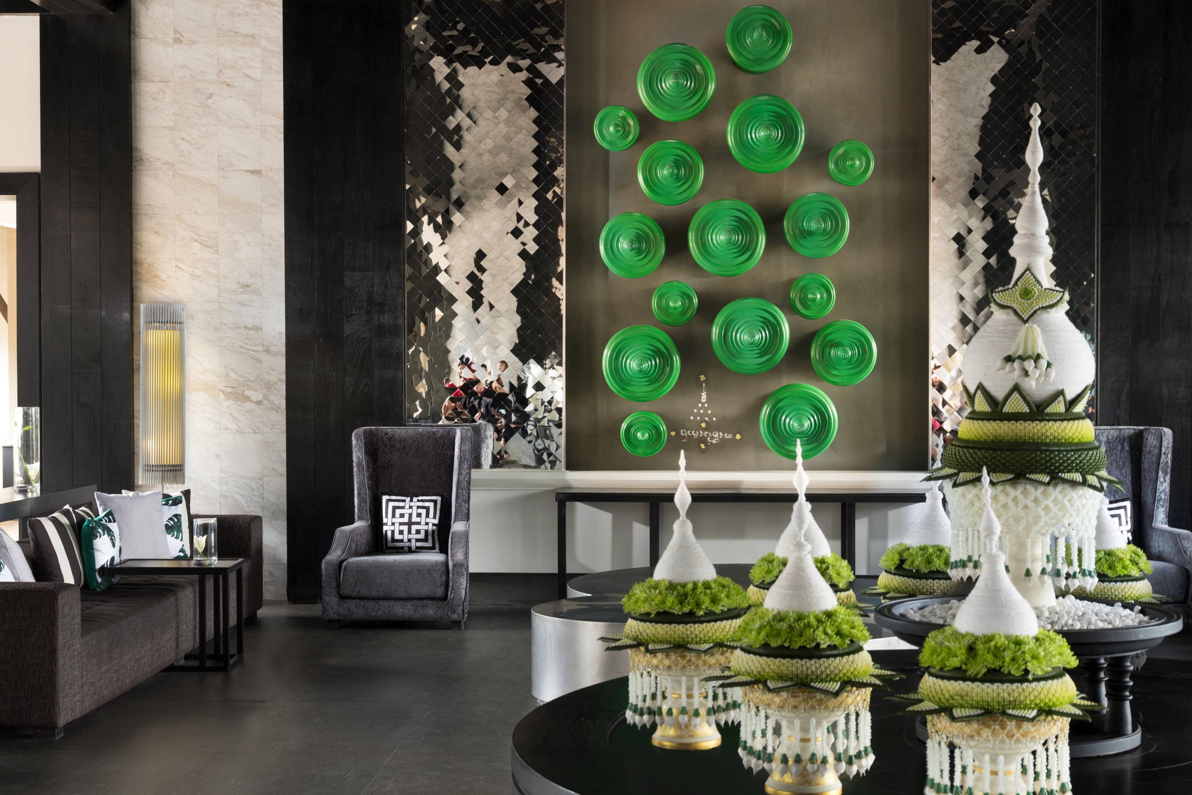 Hotel Lobby Ceremonial Monk Bowls