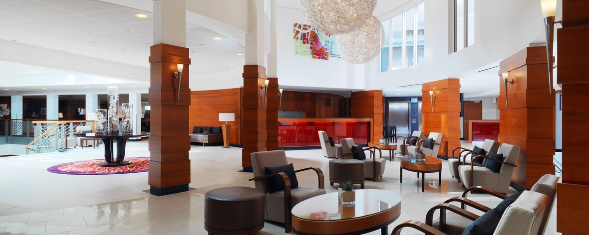 Lobby of Cologne Marriott Hotel