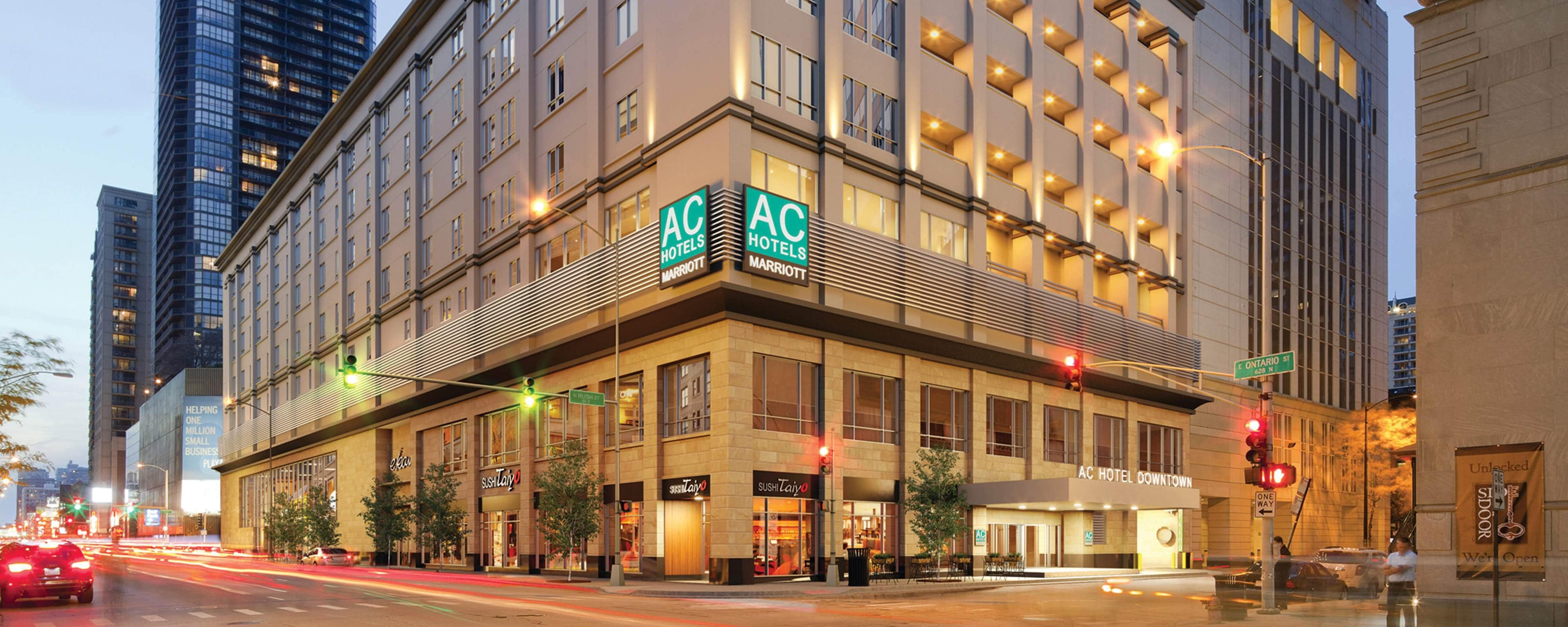 Hotels In Chicago Map.Magnificent Mile Boutique Hotels Downtown Chicago Ac Hotel Chicago