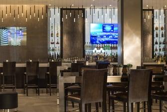 Lounge del lobby del hotel en el centro de Chicago