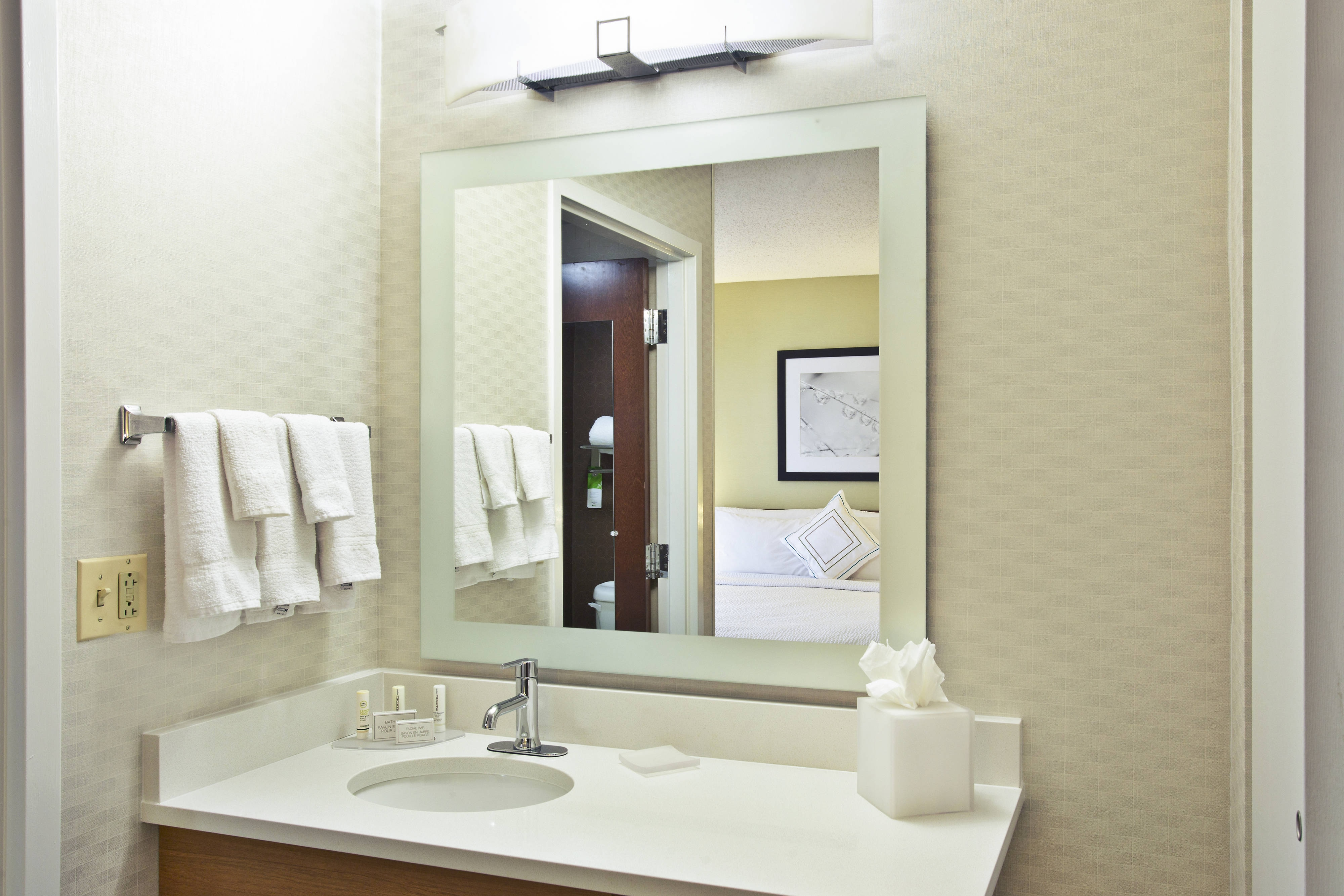 Studio Suites Bathroom Vanity SpringHill Suites Chicago Southwest at Burr Ridge/Hinsdale