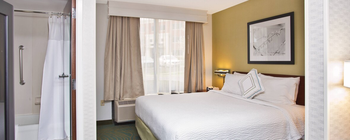 King Studio Suite Sleeping Area SpringHill Suites Chicago Southwest at Burr Ridge/Hinsdale