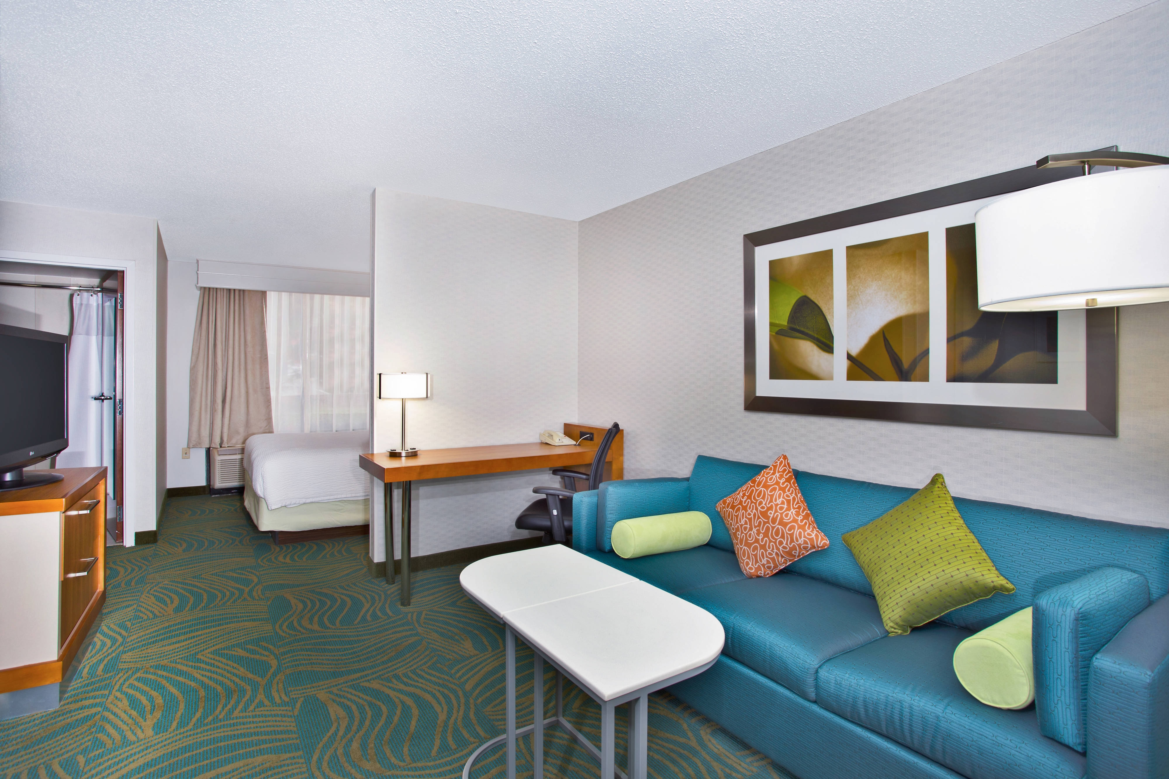 King Studio Suite Living Area SpringHill Suites Chicago Southwest at Burr Ridge/Hinsdale