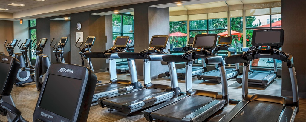 Gimnasio del Chicago Marriott Suites Deerfield
