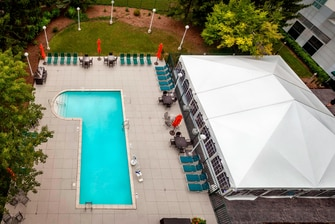 Outdoor Pool and Patio with all-season tent