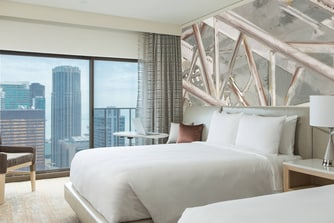Downtown Chicago Hotel Room