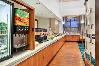 SpringHill Suites Elmhurst Breakfast Buffet
