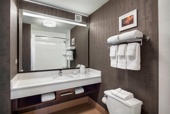 Downtown Chicago hotel bathroom