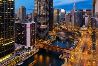 Exterior and Chicago River