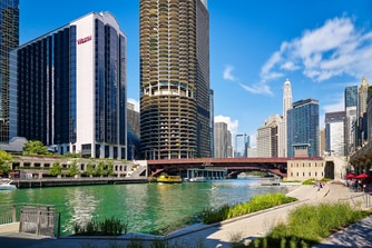 Exterior and Chicago Riverwalk