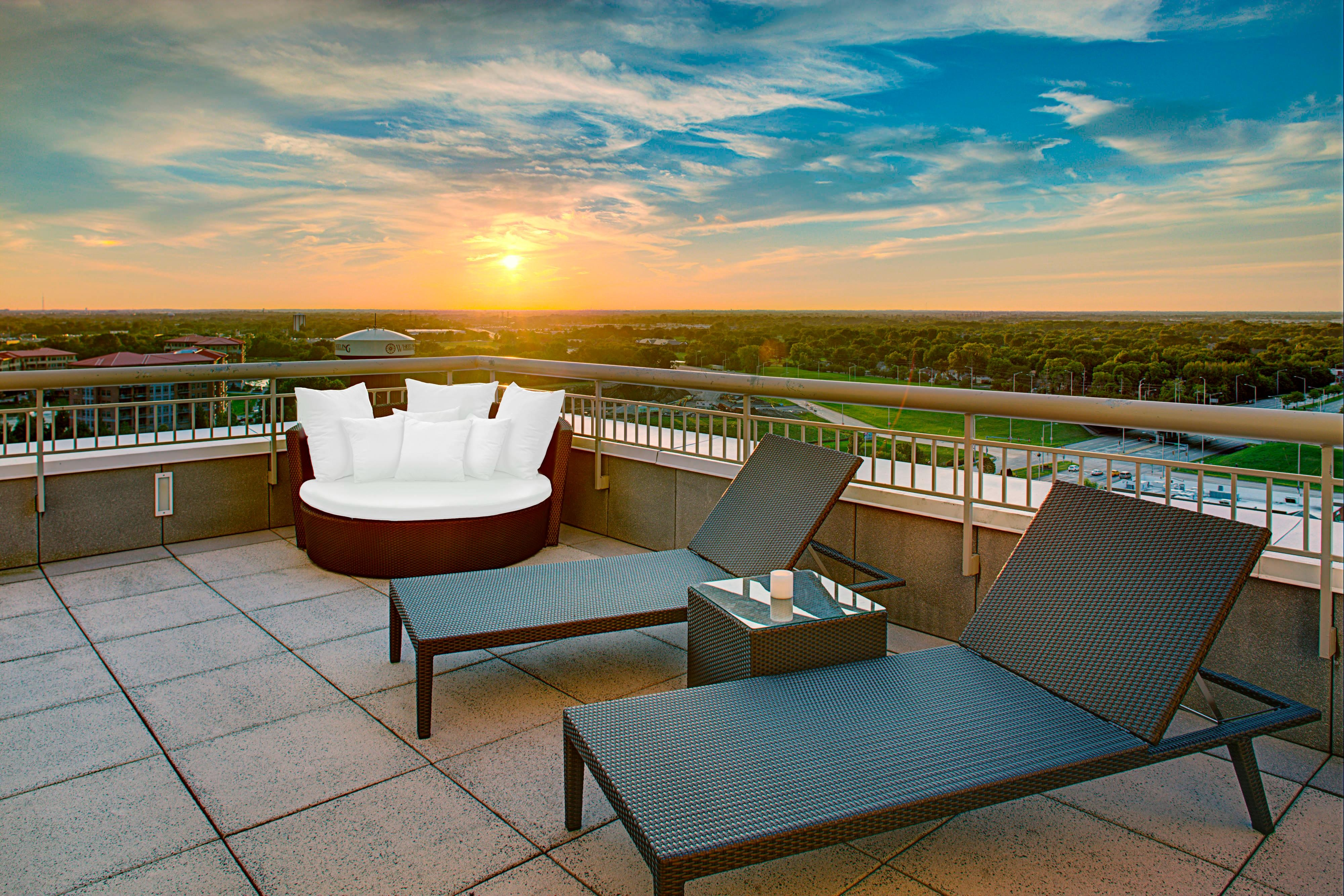 Presidential East and West Feature Duel Patios with amazing Views
