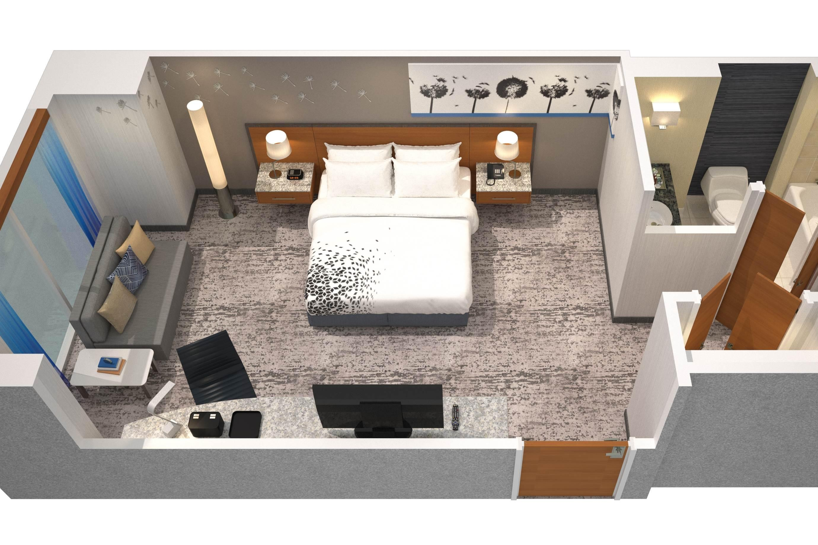 King Guest Room Floor Plan