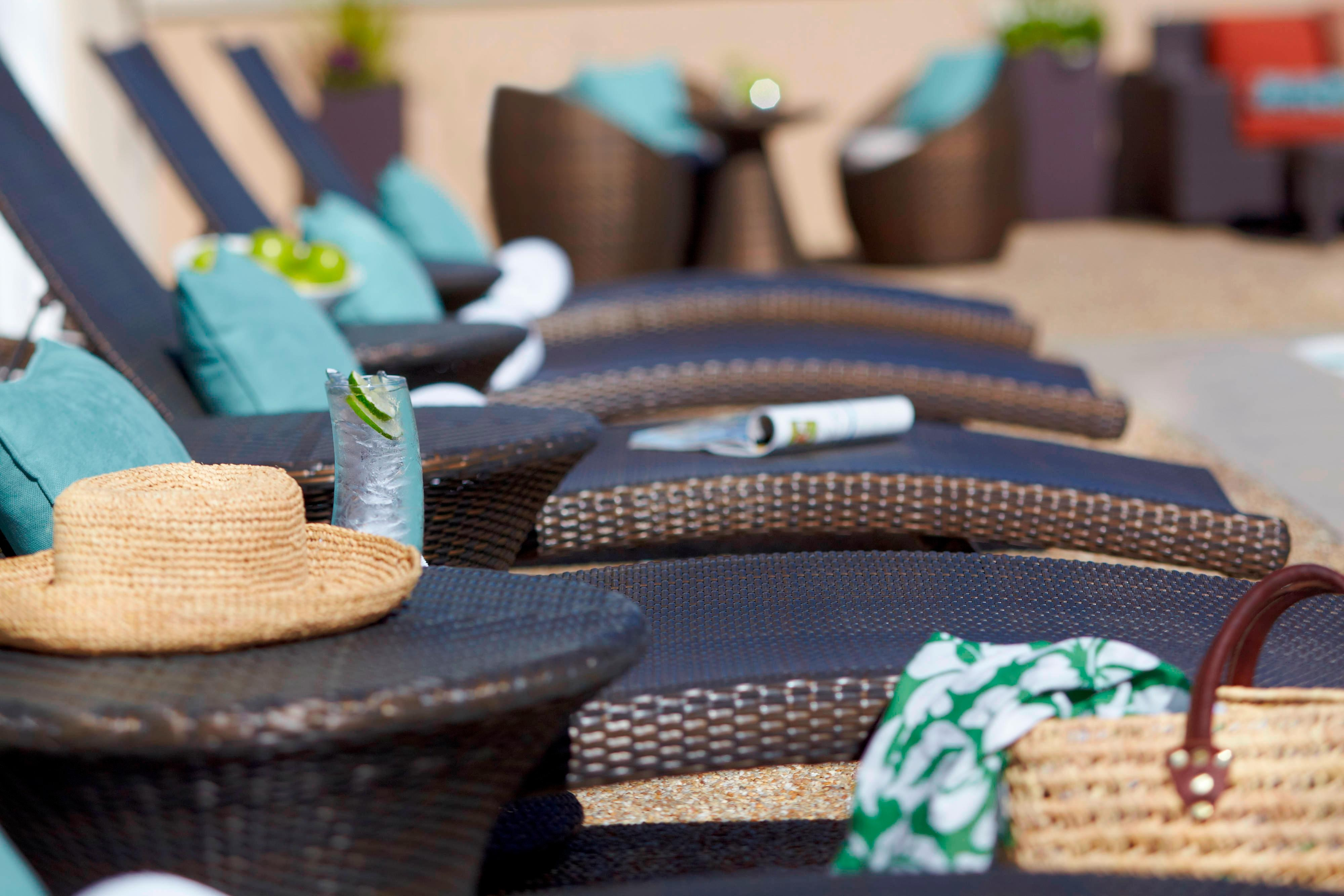 Charleston hotel poolside lounge chairs