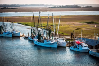 Boats on the Kiawah River