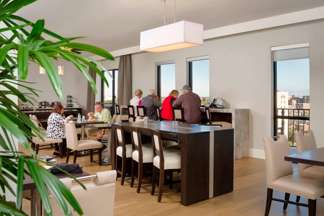 Marriott hotels with concierge lounge