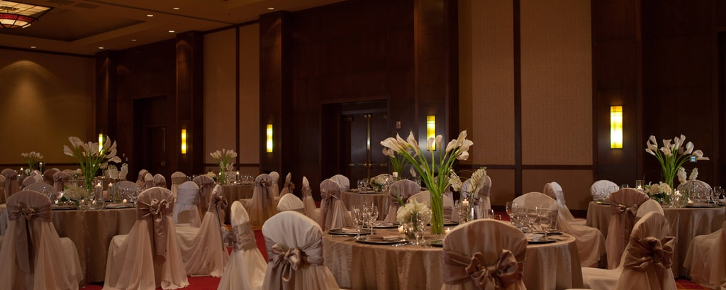 Coral Ballroom Wedding Reception