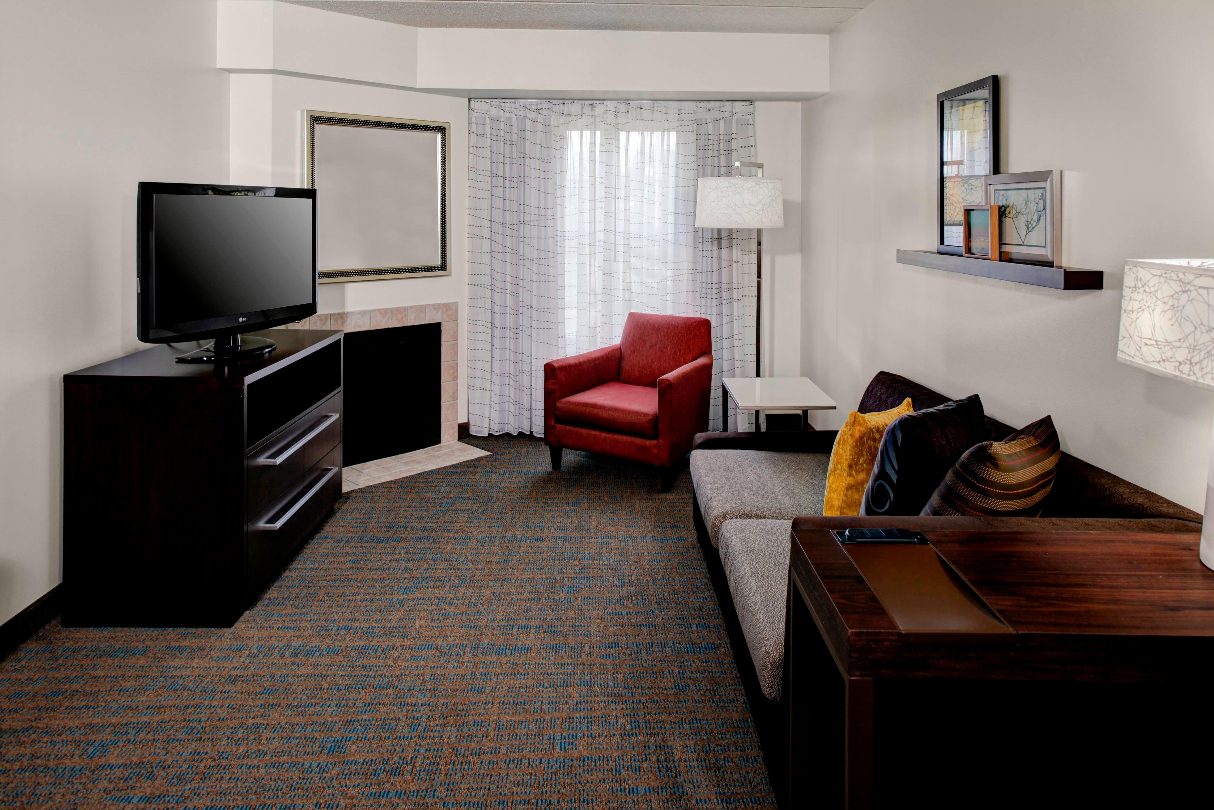 Residence Inn by Marriott Cleveland Beachwood one bedroom with fireplace