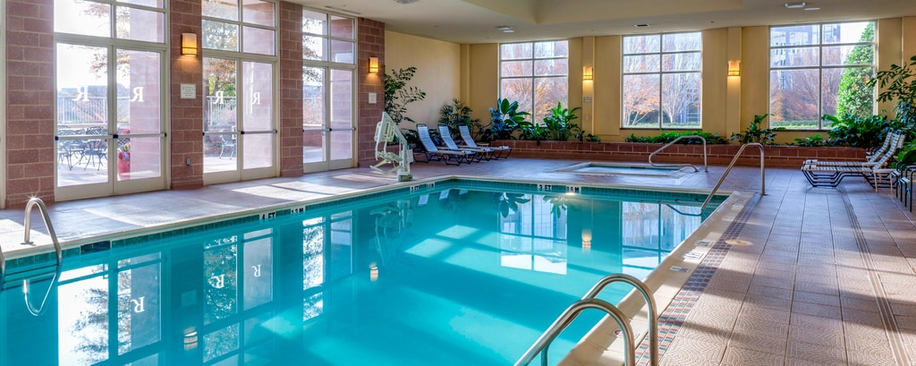 Soothe your aching muscles in our crystal clear indoor pool.