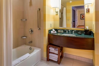 Upgrade your morning routine in a spacious and stylish bathroom.