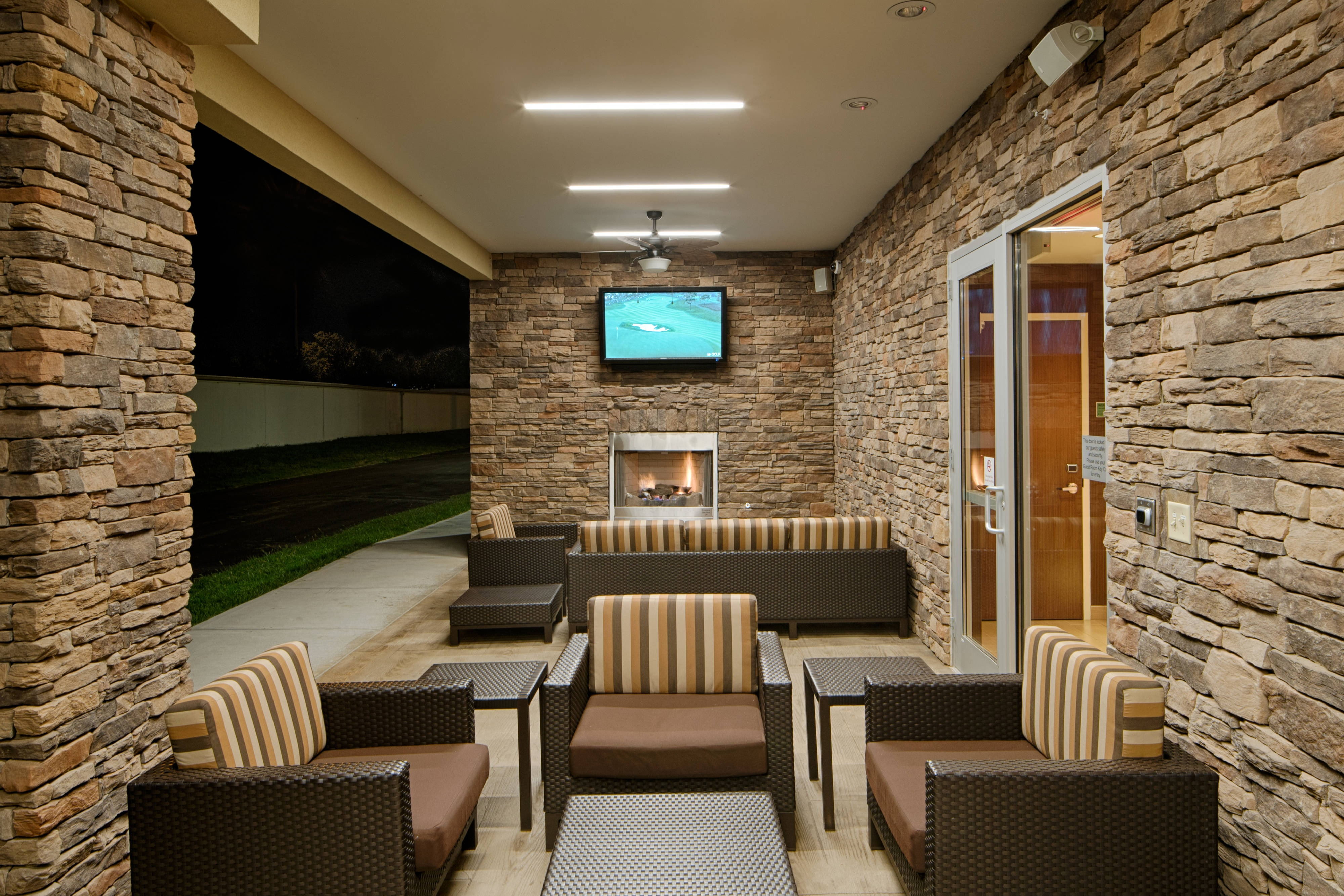 Exterior Fireplace Patio
