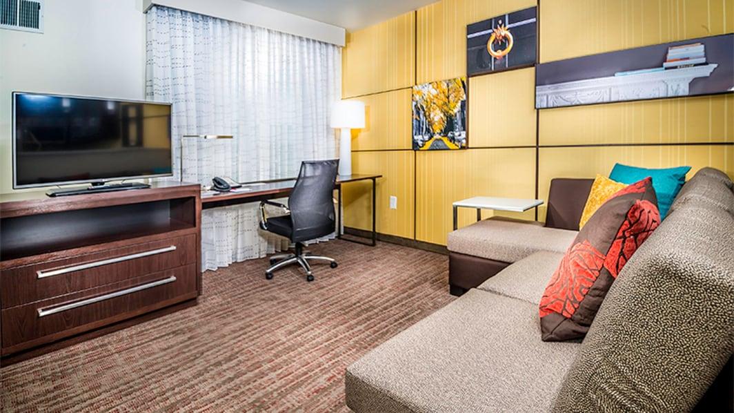 Sala de estar de la suite Studio King