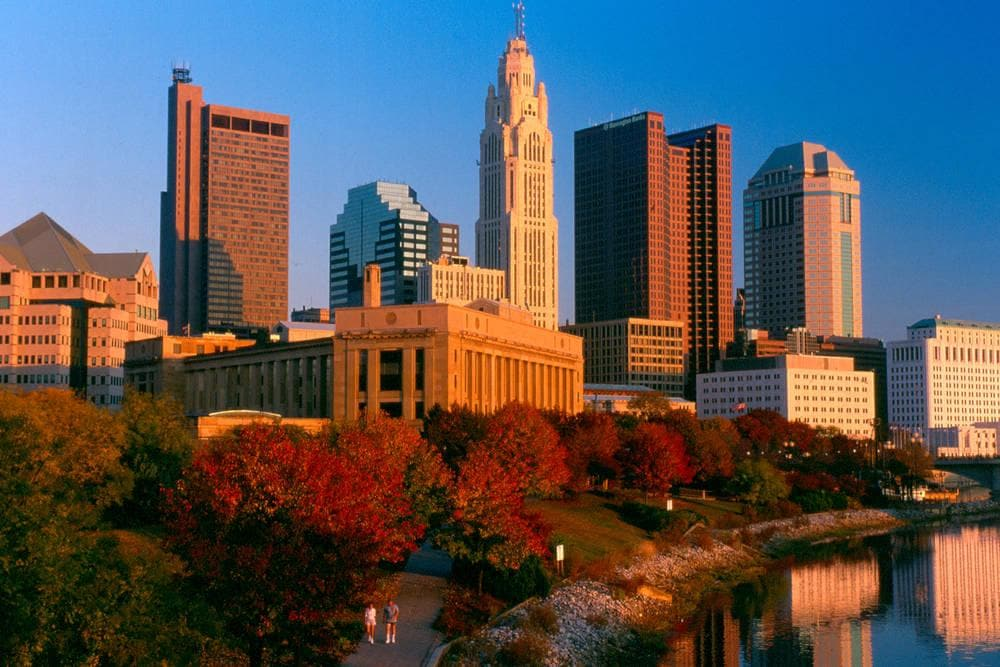 Skyline view of Columbus Ohio