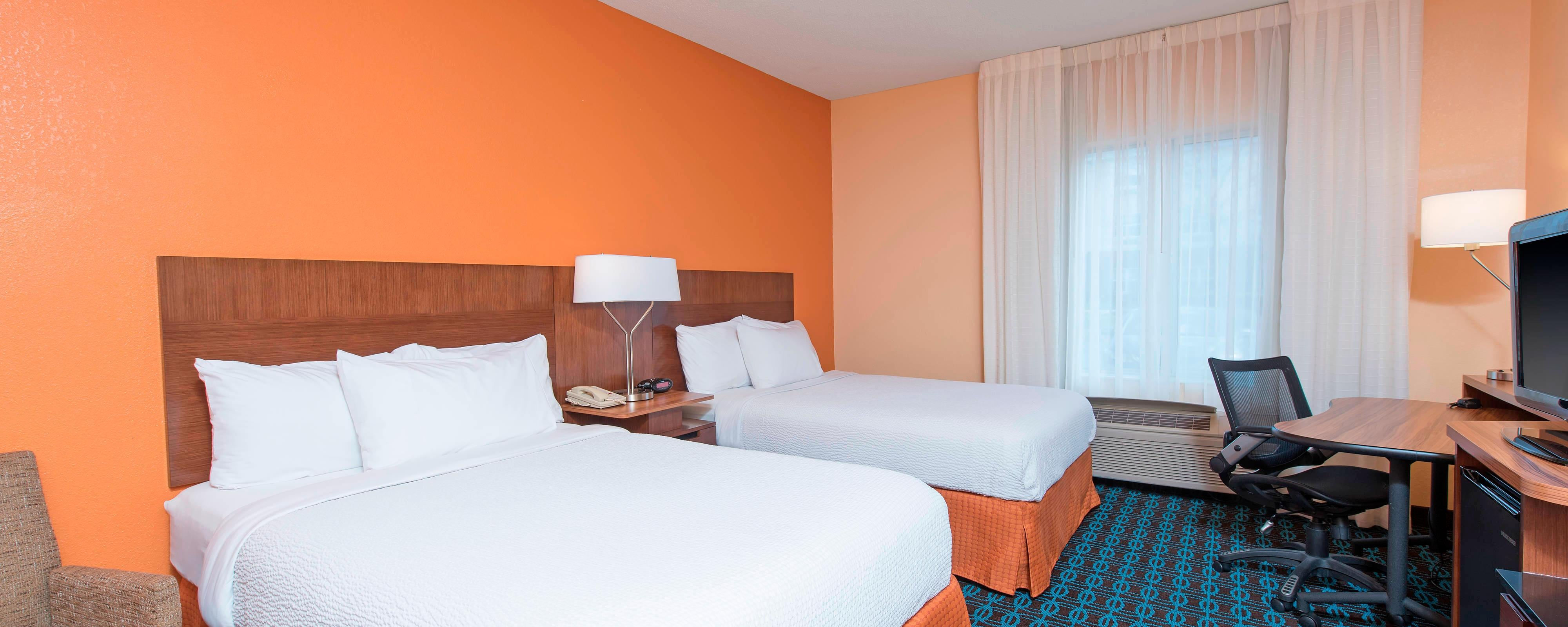 Chambre double du Fairfield Inn & Suites Columbus East
