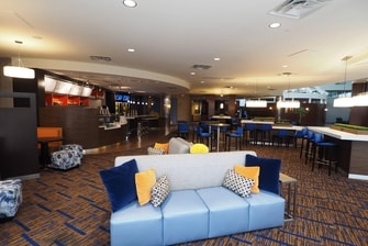 Hotel dining seating area