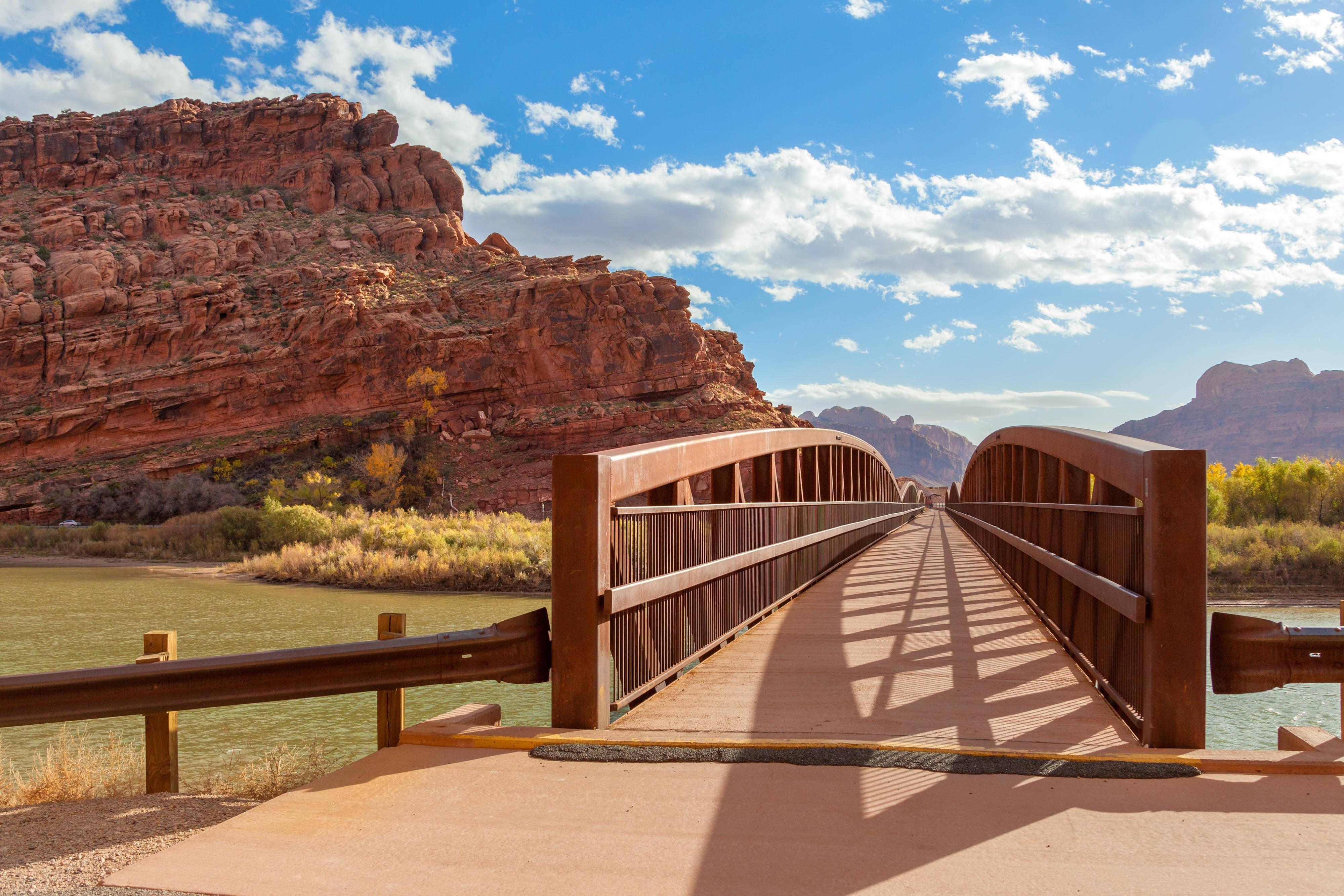 Moab Hotel across Moab Canyon