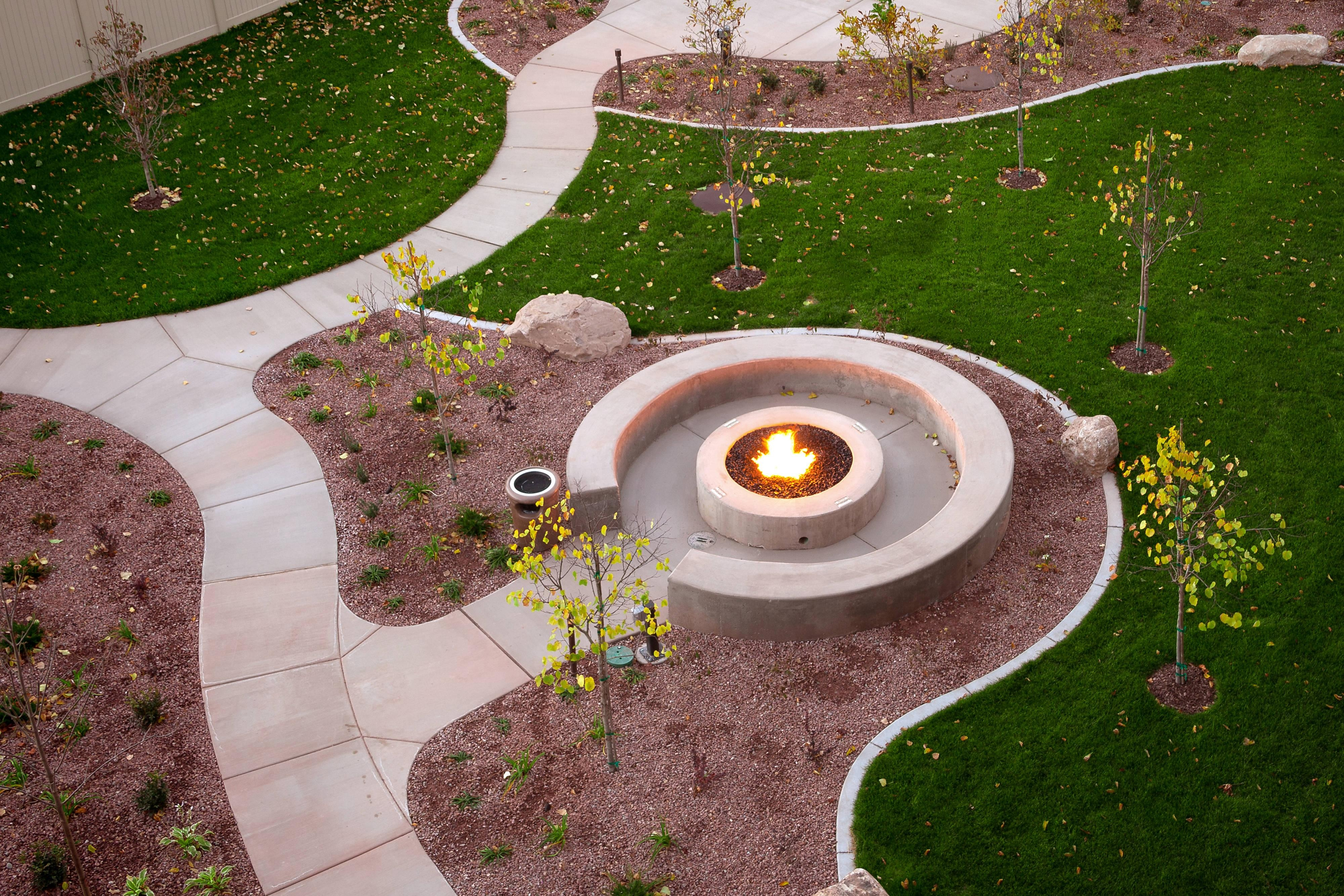 Fire Pit at Moab Hotel