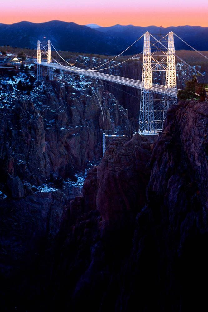 Royal Gorge Bridge Dusk