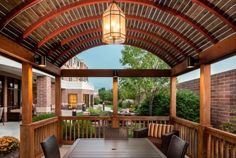 Outdoor courtyard in Columbia MO