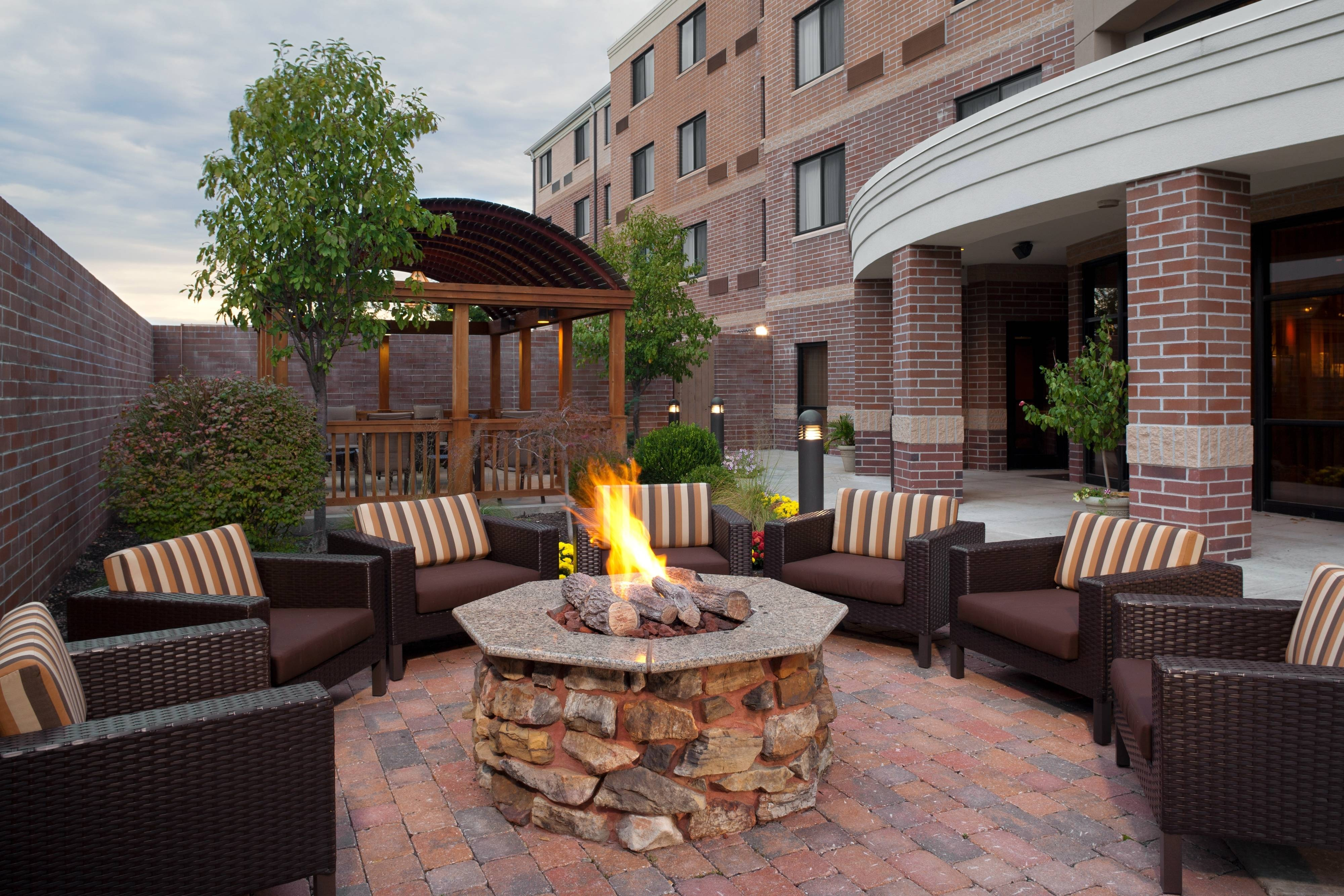 Columbia hotel fire pit