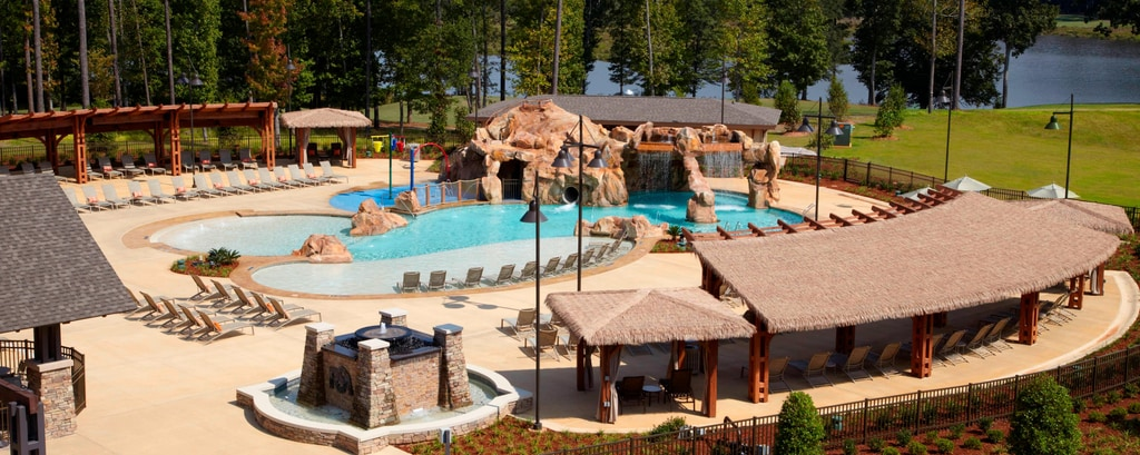 Outdoor pool at Opelika hotel