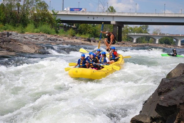 Whitewater rafting, nearby attractions