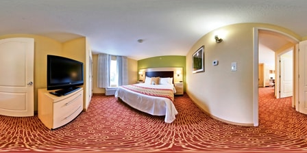 Suite Bedroom – Columbus TownePlace Suites
