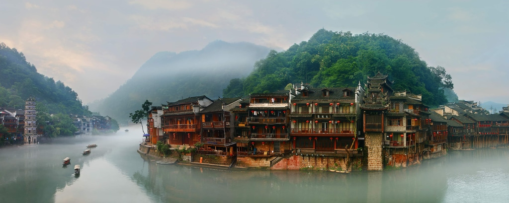 FengHuang ancient town - Hanging house