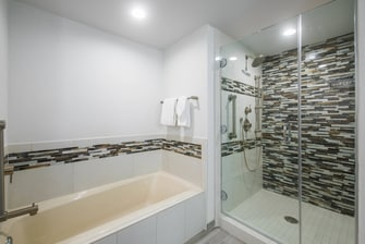 Signature Suite Shower and Tub