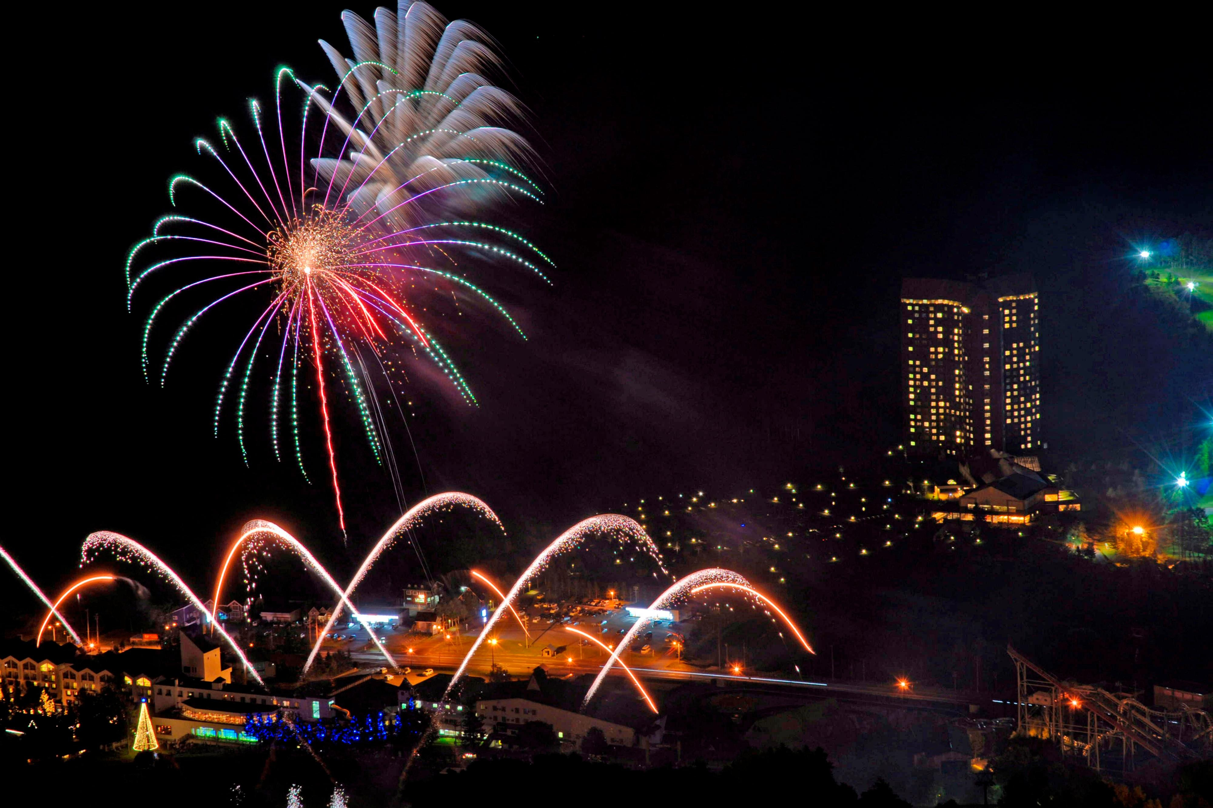 Exterior with FireWorks
