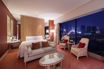 Spacious guest room with view