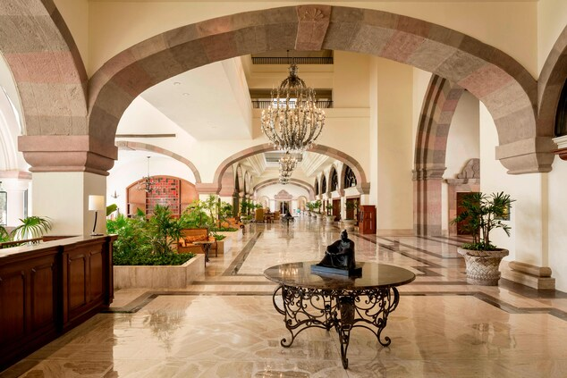 Beach Resort Lobby in Mexico