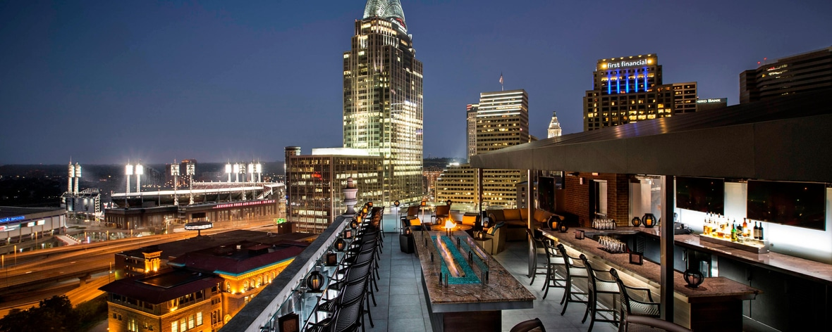 Evening View Cincinnati Rooftop Bar