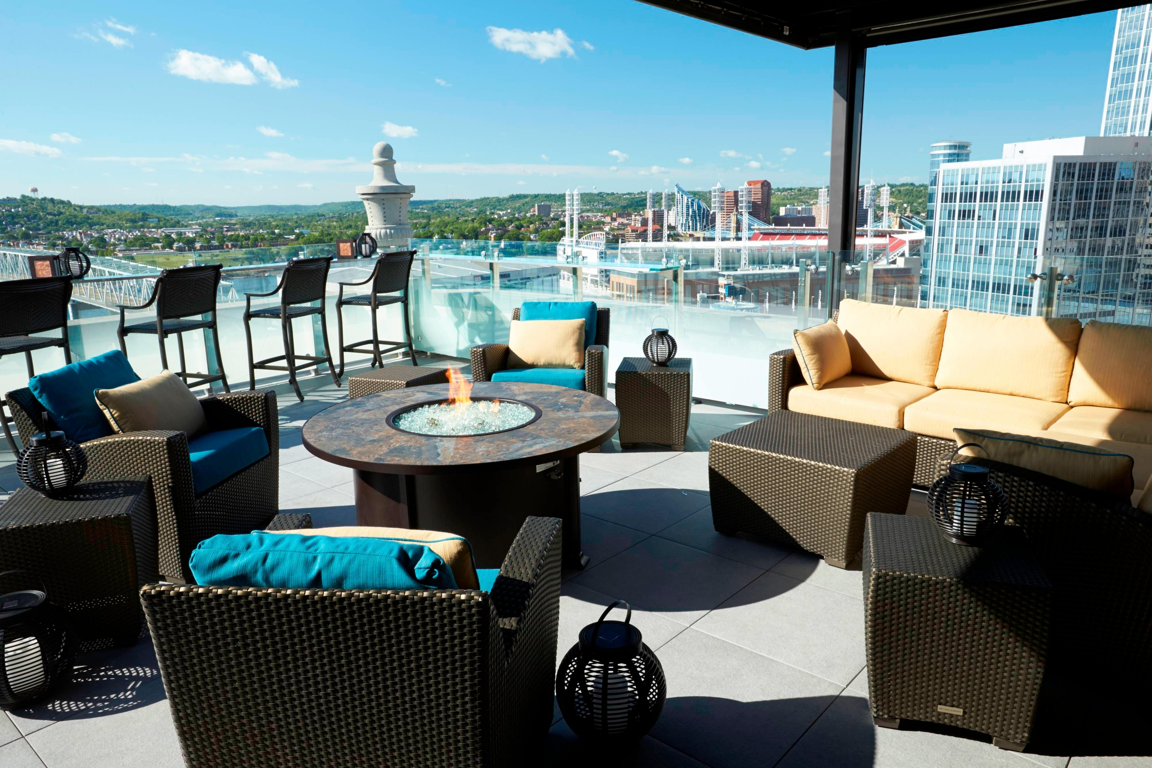 Upper Level Lounge Area Rooftop Bar