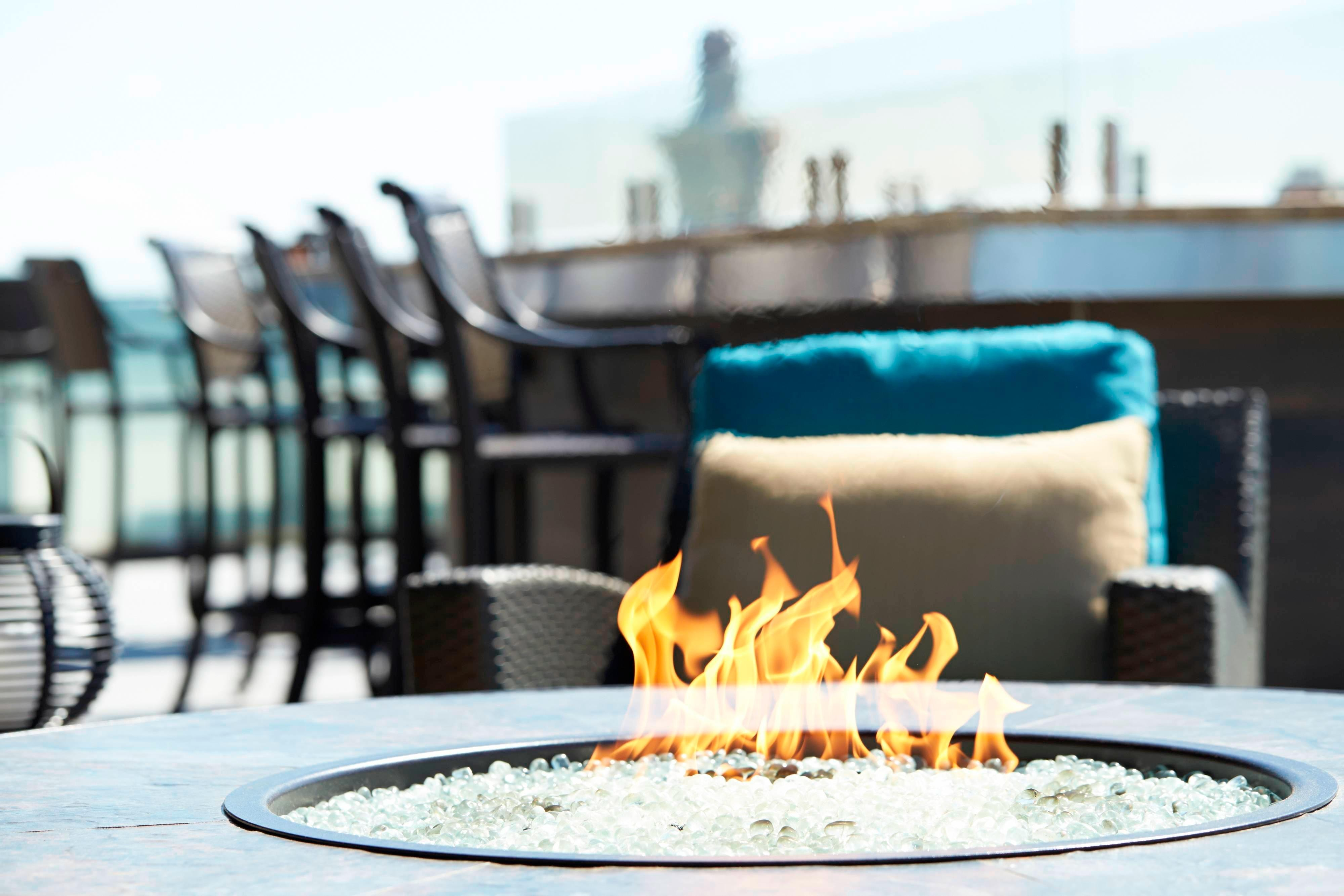 Rooftop Bar Fire Pit