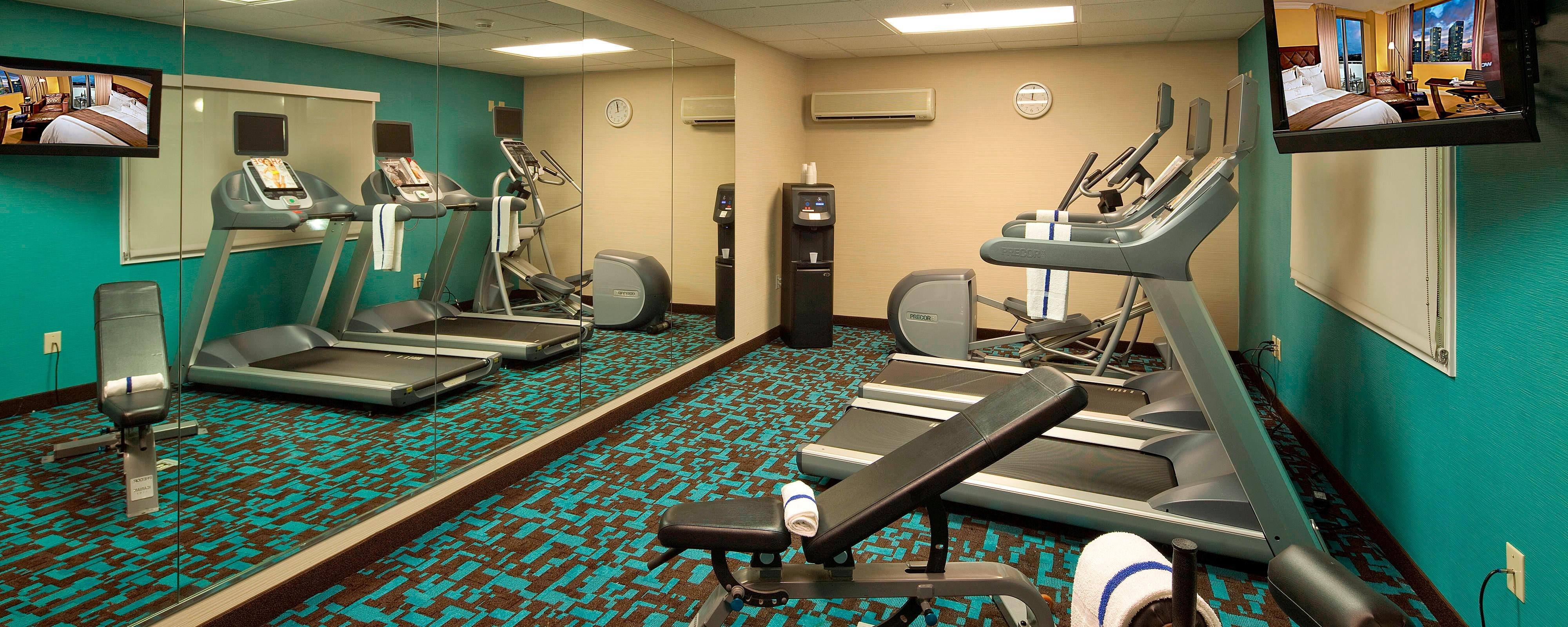 Fitness Center with Treadmills Elliptical