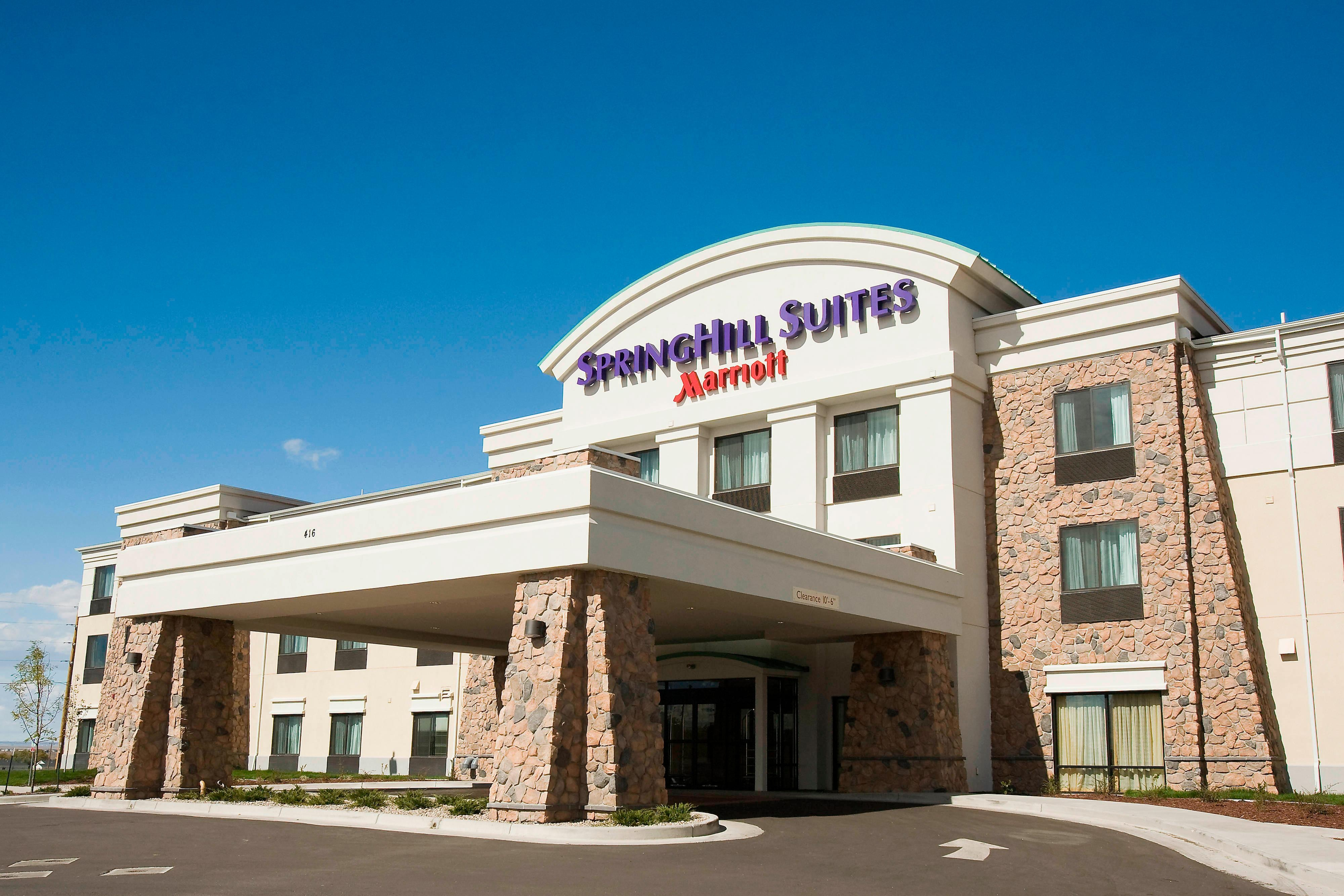 Extended-stay hotel entrance in Cheyenne