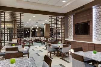 Lobby dining seating